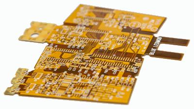 gold circuitboard